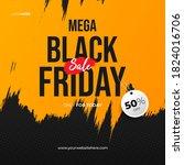 black friday brush sale banner... | Shutterstock .eps vector #1824016706
