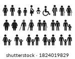 people figures icon set.... | Shutterstock . vector #1824019829