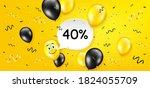 40  off sale. balloon confetti...   Shutterstock .eps vector #1824055709