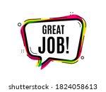 great job symbol. speech bubble ... | Shutterstock .eps vector #1824058613