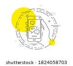 employees messenger line icon....   Shutterstock .eps vector #1824058703