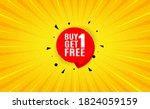 buy 1 get 1 free sticker....   Shutterstock .eps vector #1824059159