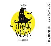 happy halloween. trick or treat.... | Shutterstock .eps vector #1824074270