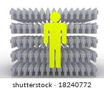 silhouettes of people. 3d | Shutterstock . vector #18240772