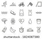 triathlon race   equipment... | Shutterstock .eps vector #1824087380