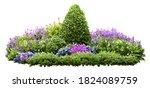 Cutout Flower Bed. Garden...