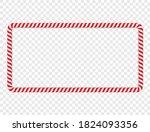 horizontal frame made of red... | Shutterstock .eps vector #1824093356
