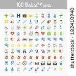 medical icons | Shutterstock .eps vector #182410940