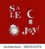 merry christmas elements... | Shutterstock .eps vector #1824131576