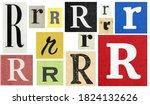 Paper Cut Letter R. Newspaper...