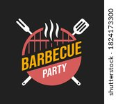 barbecue and grill label  badge ...   Shutterstock .eps vector #1824173300