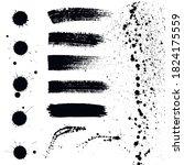 grunge elements. blots and...   Shutterstock .eps vector #1824175559