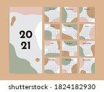 abstract calendar 2021 year.... | Shutterstock .eps vector #1824182930