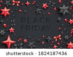 black friday sale poster with... | Shutterstock .eps vector #1824187436