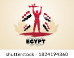 egypt holiday memorial day... | Shutterstock .eps vector #1824194360