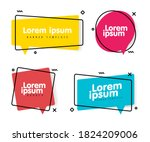 set of trendy geometric banner... | Shutterstock .eps vector #1824209006