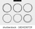 hand drawn circle line sketch... | Shutterstock .eps vector #1824230729