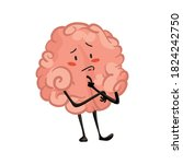 brain character emotion. brain...   Shutterstock .eps vector #1824242750