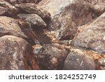 cobblestones and boulders ... | Shutterstock . vector #1824252749