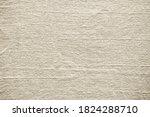 Beige Wrinkled Linen Texture...