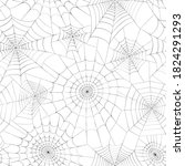 seamless pattern with spider... | Shutterstock .eps vector #1824291293