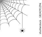 spider web corner illustration... | Shutterstock .eps vector #1824291296