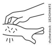 allergic hand scabies thin line ... | Shutterstock .eps vector #1824344693