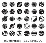 planet and globe glyph style... | Shutterstock .eps vector #1824346700