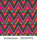 abstract ethnic seamless... | Shutterstock . vector #182434970