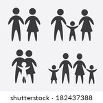 family design over gray... | Shutterstock .eps vector #182437388