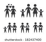 family design over white... | Shutterstock .eps vector #182437400