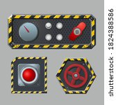 set of metal switches and... | Shutterstock .eps vector #1824388586
