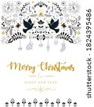 christmas greeting card design... | Shutterstock .eps vector #1824395486