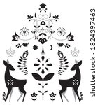 merry christmtas greeting card... | Shutterstock .eps vector #1824397463