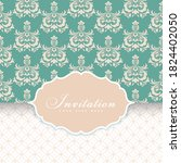 wedding card or invitation with ... | Shutterstock .eps vector #1824402050