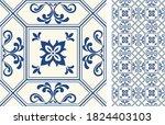 seamless azulejo tile.... | Shutterstock .eps vector #1824403103
