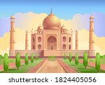 taj mahal is a palace in india. ... | Shutterstock .eps vector #1824405056