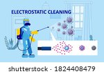 electrostatic disinfection... | Shutterstock .eps vector #1824408479