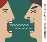man and woman yelling at each... | Shutterstock .eps vector #1824410249