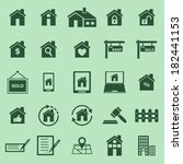 real estate color icons on...   Shutterstock .eps vector #182441153