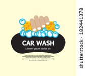 Car Wash Vector Illustration - stock vector