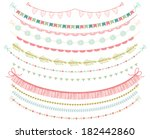 garlands and bunting flags... | Shutterstock .eps vector #182442860