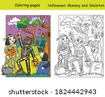 vector coloring pages with... | Shutterstock .eps vector #1824442943