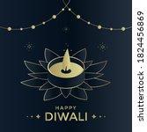 happy diwali luxury greeting...   Shutterstock .eps vector #1824456869