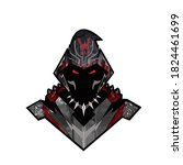 evil warrior esport gaming logo | Shutterstock .eps vector #1824461699