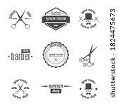 set of grey emblem  logo  label ... | Shutterstock .eps vector #1824475673