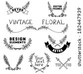 set of vintage page decorations ... | Shutterstock .eps vector #182447939
