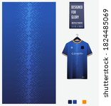 fabric pattern design. geometry ... | Shutterstock .eps vector #1824485069