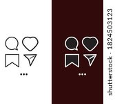vector image of the icon set ... | Shutterstock .eps vector #1824503123