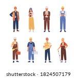 set of smiling people industry... | Shutterstock .eps vector #1824507179
